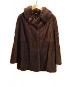 ー(ー)の古着「毛皮ハーフコート」|ブラウン