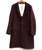 UNUSED(アンユーズド)の古着「チェスターコート」|パープル