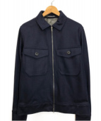 DESIGNWORKS(デザインワークス)の古着「メルトンジャ-ージージャケット」 ネイビー