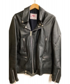 james grose(ジェームス グロース)の古着「ライダースジャケット」|ブラック