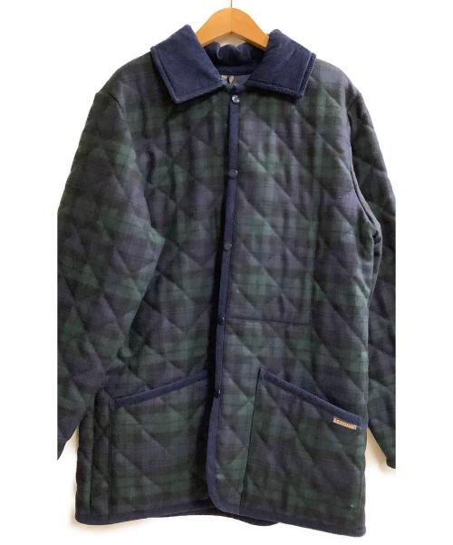 LAVENHAM(ラヴェンハム)LAVENHAM (ラヴェンハム) キルティングジャケット ネイビー×グリーン サイズ:Mの古着・服飾アイテム