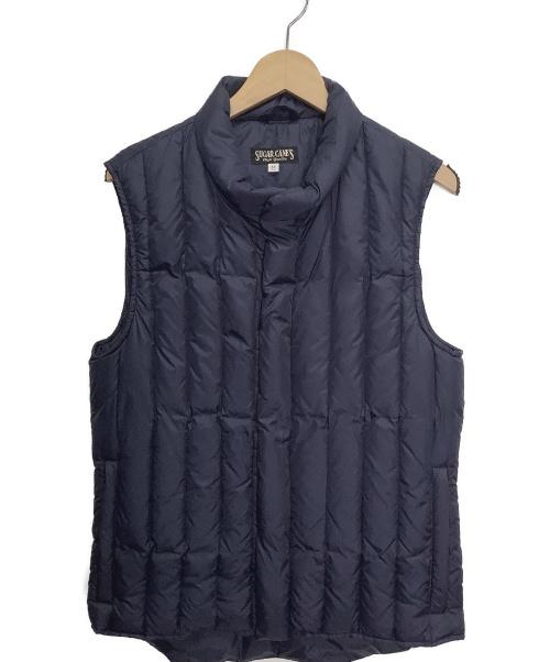 SUGAR CANE(シュガーケーン)SUGAR CANE (シュガーケーン) ダウンベスト ネイビー サイズ:Mの古着・服飾アイテム