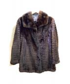 -(-)の古着「毛皮ショートコート」 ブラウン
