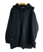 Porter Classic(ポータークラシック)の古着「メルトンコートウィズフード」 ブラック
