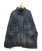 Porter Classic(ポータークラシック)の古着「刺し子フレンチジャケット」|ネイビー