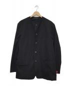 YOHJI YAMAMOTO(ヤマモトヨウジ)の古着「ノーカラージャケット」|ブラック