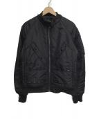 Denham(デンハム)の古着「フライトジャケット」|ブラック