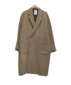 MISTER GENTLE MAN(ミスタージェントルマン)の古着「ダブルチェスターコート」|ベージュ