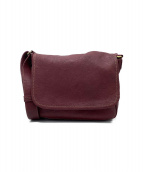 土屋鞄(ツチヤカバン)の古着「レザーショルダーバッグ」|エンジ
