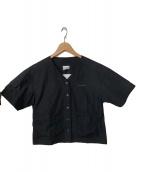 ()の古着「ノーカラーシャツ」 ブラック