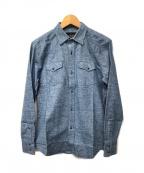Dartin Bonaparto(ダルタン ボナパルト)の古着「ネルシャツ」 ブルー