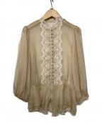Belle vintage(ベル ビンテージ)の古着「ブラウス」 ベージュ