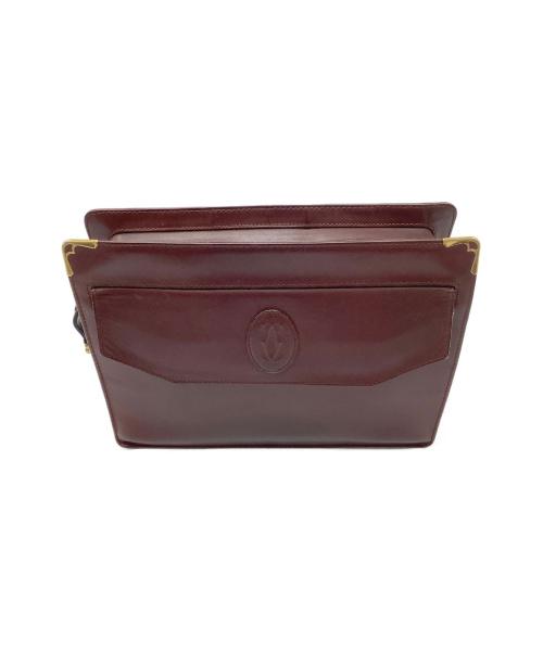 Cartier(カルティエ)Cartier (カルティエ) クラッチバッグ ワインレッド マストラインの古着・服飾アイテム