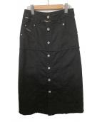 DIESEL(ディーゼル)の古着「カットオフスカート」|ブラック