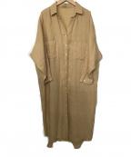 ROSSO(ロッソ)の古着「リネンワンピース」 ベージュ
