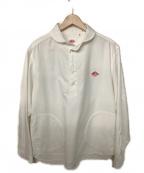 DANTON()の古着「プルオーバーシャツ」 ホワイト