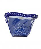LANVIN en Bleu(ランバンオンブルー)の古着「ビニールバッグ」 ブルー