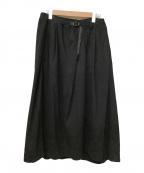 GRAMICCI(グラミチ)の古着「テールカットスカート」|ブラック
