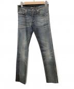Dior(ディオール)の古着「ダメージ加工デニムパンツ」 インディゴ