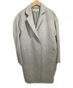 ENFOLD(エンフォルド)の古着「ウールメランジチェスターコート」|ライトグレー