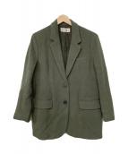 ()の古着「オーバーサイズウールジャケットコート」|オリーブ