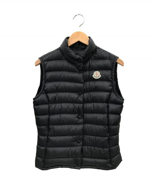 MONCLER(モンクレール)MONCLER (モンクレール) リアーヌライトダウンベスト ブラック サイズ:1の古着・服飾アイテム