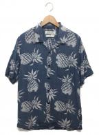 REMI RELIEF(レミレリーフ)の古着「インディゴアロハオープンカラーシャツ」|ネイビー
