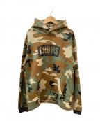 CHUMS(チャムス)の古着「プルオーバーパーカー」|カーキ×ブラウン
