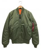 ALPHA INDUSTRIES(アルファインダストリーズ)の古着「MA-1ジャケット」|セージグリーン