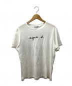 agnes b homme(アニエスベーオム)の古着「ロゴTシャツ」 ホワイト