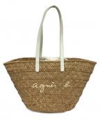 agnes b voyage(アニエスベーボヤージュ)の古着「カゴバッグ」|ナチュラル×ホワイト