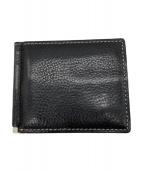 土屋鞄(ツチヤカバン)の古着「バタフライマネークリップ」|ブラック