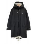 FRED PERRY(フレッドペリー)の古着「ボアモッズコート」|ブラック