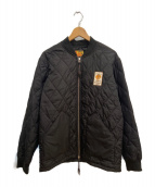 TMT(ティーエムティー)の古着「キルティングボンバージャケット」|ブラック