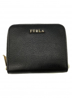 FURLA(フルラ)の古着「ラウンドファスナー財布」|ダークグレー