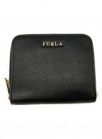 FURLA()の古着「ラウンドファスナー財布」|ダークグレー