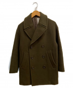ORCIVAL(オーシバル)の古着「メルトンPコート」|オリーブ