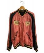 東洋エンタープライズ(トウヨウエンタープライズ)の古着「リバーシブルサテンスカジャン」|ブラック