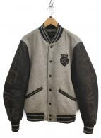 DIESEL(ディーゼル)の古着「スタジャン」 グレー×ブラック