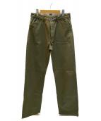 MOMOTARO JEANS(モモタロー ジーンズ)の古着「ウエストポイントトラウザーパンツ」|カーキ