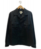 snow peak(スノーピーク)の古着「リネン素材サファリシャツ」|ブラック
