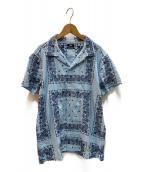 TMT(ティーエムティー)の古着「オープンカラーシャツ」|スカイブルー