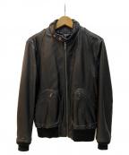 Thee Hysteric XXX(ジィーヒステリックトリプルエックス)の古着「シングルライダースジャケット」 ブラック