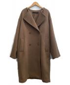 KBF(ケイビーエフ)の古着「ダブルボタンビッグコート」|ブラウン
