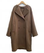 KBF(ケービーエフ)の古着「ダブルボタンビッグコート」 ブラウン