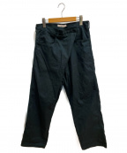TOGA VIRILIS(トーガ ビリリース)の古着「Stretch cotton pants」 グリーン