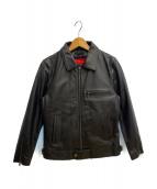 LIUGOO LEATHERS(リューグーレザーズ)の古着「シングルライダースジャケット」 ブラック