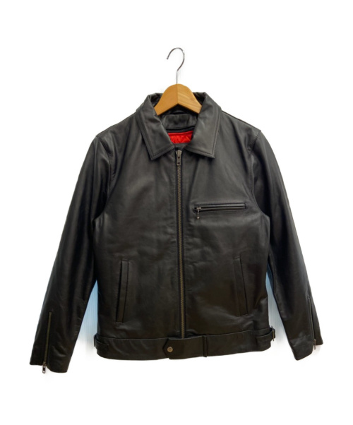 LIUGOO LEATHERS(リューグーレザーズ)LIUGOO LEATHERS (リューグーレザーズ) シングルライダースジャケット ブラック サイズ:Lの古着・服飾アイテム