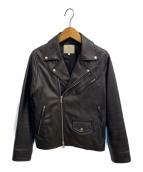 BEAUTY&YOUTH(ビューティーアンドユース)の古着「ダブルライダースジャケット」|ブラック