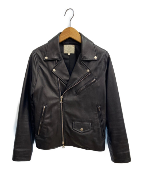 BEAUTY&YOUTH(ビューティーアンドユース)BEAUTY&YOUTH (ビューティーアンドユース) ダブルライダースジャケット ブラック サイズ:S ラムレザーの古着・服飾アイテム